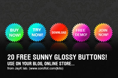 20 Free Sunny Buttons