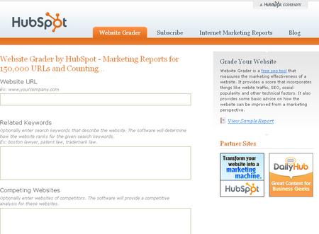 Website Grader Gives Your Website SEO Score
