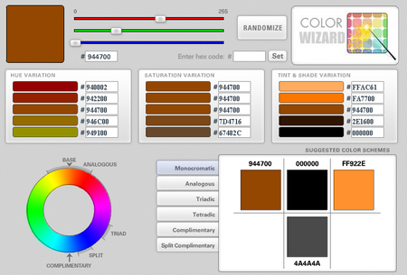 Color Wizard - Color Scheme Generator
