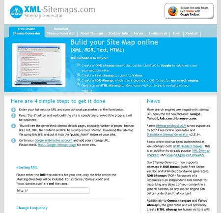 Build Your Site Map Online