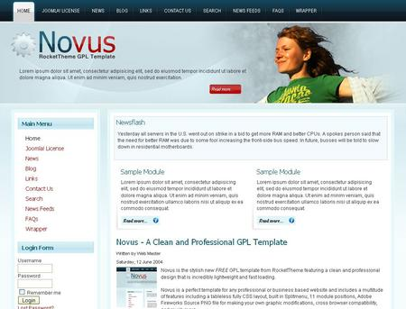 Novus - FREE GPL RocketTheme Template Released