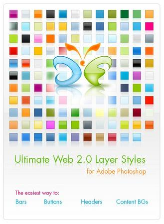Ultimate Web 2.0 Layer Styles - Free Download