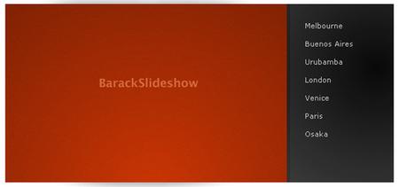 BarackSlideshow - An elegant, lightweight slideshow script