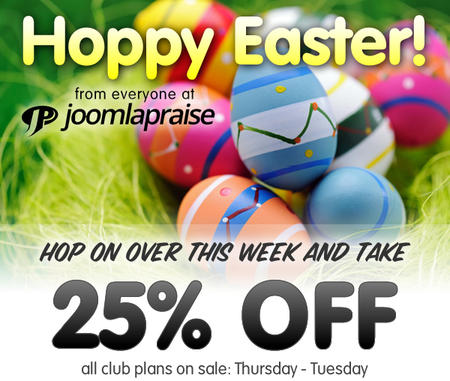 Easter SALE: 25% OFF Club Memberships