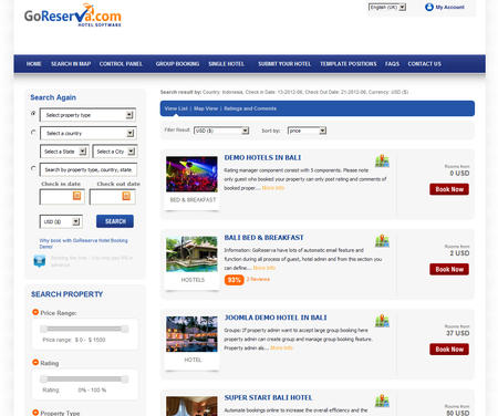 Joomla Hotel Booking System
