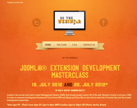 Webinar: Joomla extension development masterclass