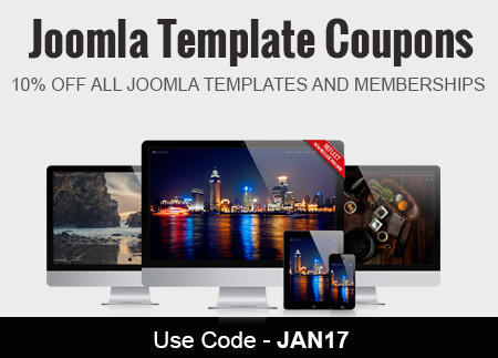 Joomla Template Coupons January 2017