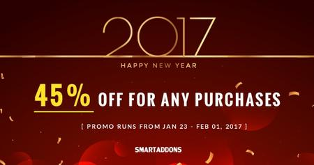 Lunar New Year Crazy Offer: 45% OFF Storewide