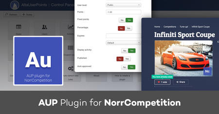 AUP plugin for NorrCompetition: new rules