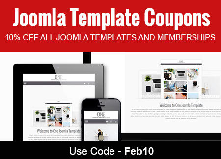 Joomla Template Coupons February 2017