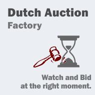 Dutch Auction Factory new release!