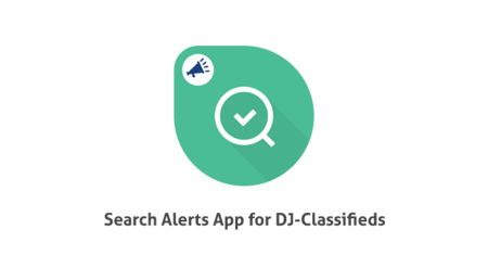 Search Alerts App for DJ-Classifieds is available!
