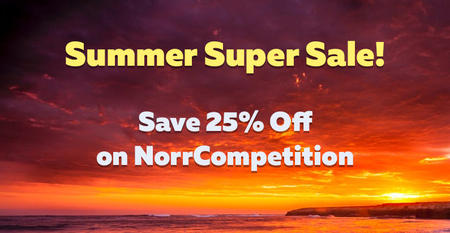 Great Summer sale! Get 25% OFF on NorrCompetition until 31st of August!