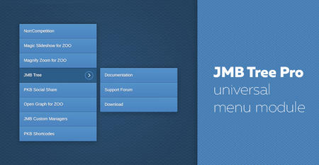 JMB Tree Pro - new menu module released