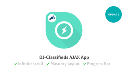 AJAX App for DJ-Classifieds was updated & comes with new features!