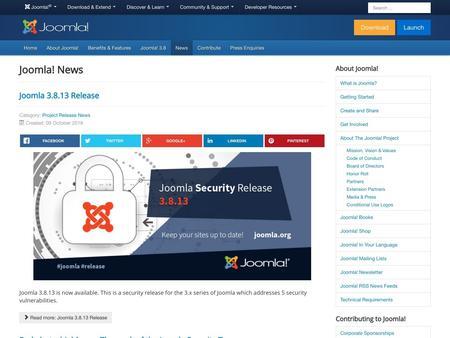 Joomla 3.8.13 Release