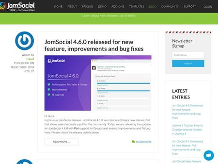 JomSocial 4.6.0 released for new feature, improvements and bug fixes