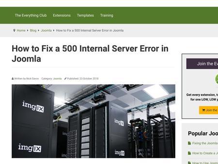 How to Fix a 500 Internal Server Error in Joomla
