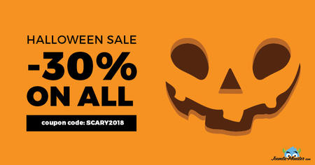 Halloween 2018 sale on Joomla templates! Get the coupon.