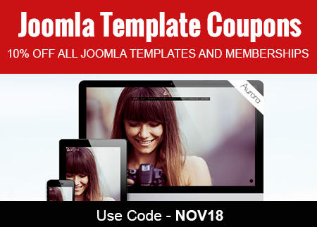 10% Off all Joomla templates and memberships