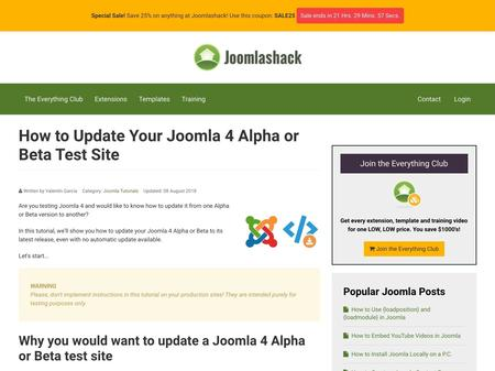 How to Update Your Joomla 4 Alpha or Beta Test Site