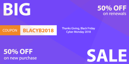 50% off Black Friday and Cyber Monday Joomla Coupon