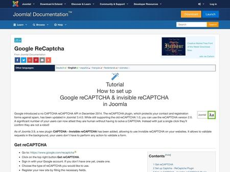 How to set up  Google reCAPTCHA & invisible reCAPTCHA  in Joomla