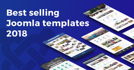 2018's best selling Joomla templates on Joomla-Monster