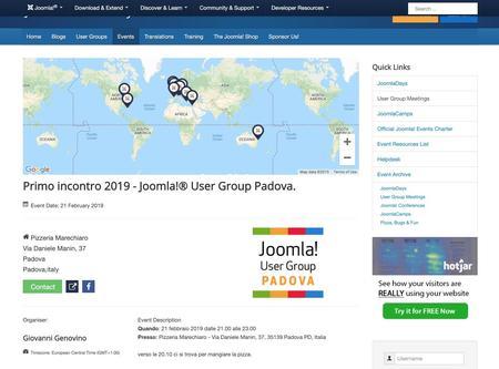 Primo incontro 2019 - Joomla!® User Group Padova.