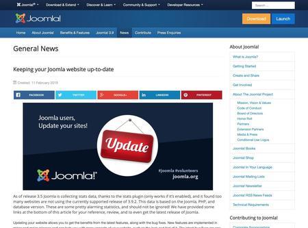Keeping your Joomla website up-to-date