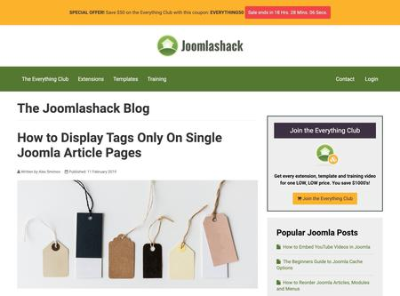 How to Display Tags Only On Single Joomla Article Pages