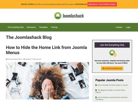 How to Hide the Home Link from Joomla Menus