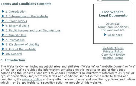 Website privacy policy sample 2014