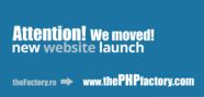 New Domain name for thePHPfactory