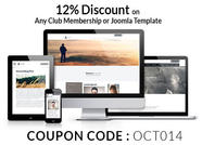 Joomla Template Coupons 12% Off for October 2014