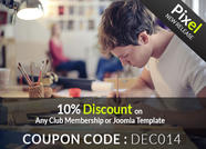 10% Off All Templates an Memberships