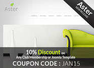 Joomla Template Coupons January 2015