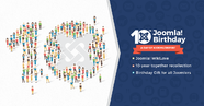Happy Joomla 10th Birthday - A day of #Joomlerspirit