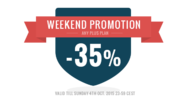 Weekend promotion -  any Plus plan 35% OFF