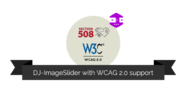 DJ-ImageSlider supports WCAG and Section 508