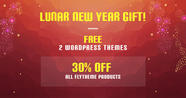 Happy Lunar New Year! FREE 2 Premium Themes & 30% OFF