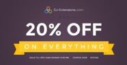 20% discount on everything