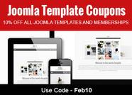 Joomla Template Coupons February 2017