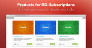 The release of Products for RD-Subscriptions module