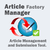 Article Factory Manager Update!