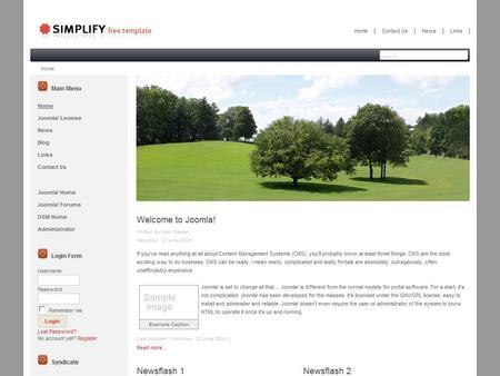 Free joomla template simplify black simplify black pronofoot35fo Gallery