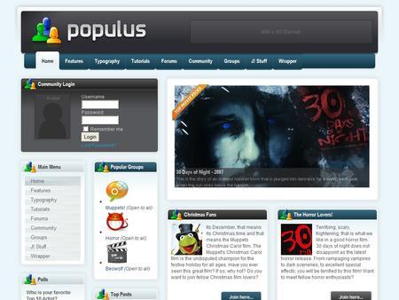 Populus Free Premium Joomla Rocket theme