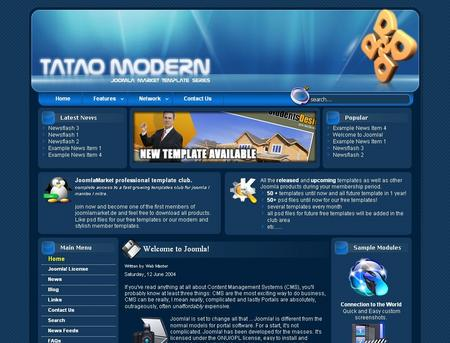 Joomla+templates+blue