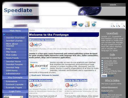 Free Joomla Template - Speedlate