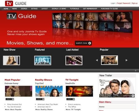 Joomla Template -Joomla TV GUIDE
